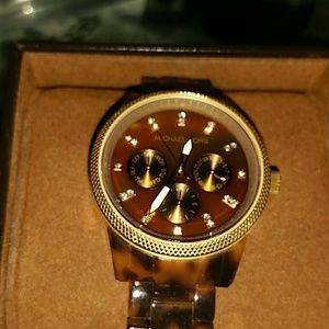 Tortoise Michael Kors Watch